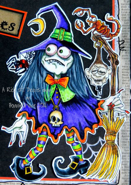 Willaworm Witchypoo digi stamp