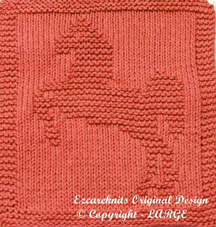 LIPIZZANER HORSE - Cloth Knitting Pattern - PDF