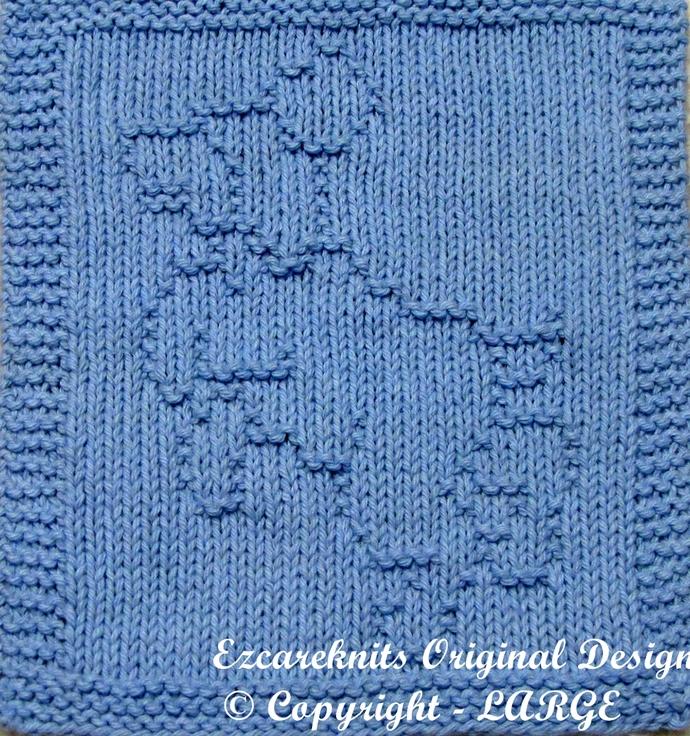 FRISKY PUPPY - Cloth Knitting Pattern - PDF