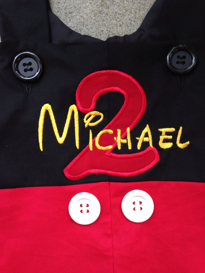 PERSONALIZED  Mickey Mouse suit disney trip with age outfit, Jon jon