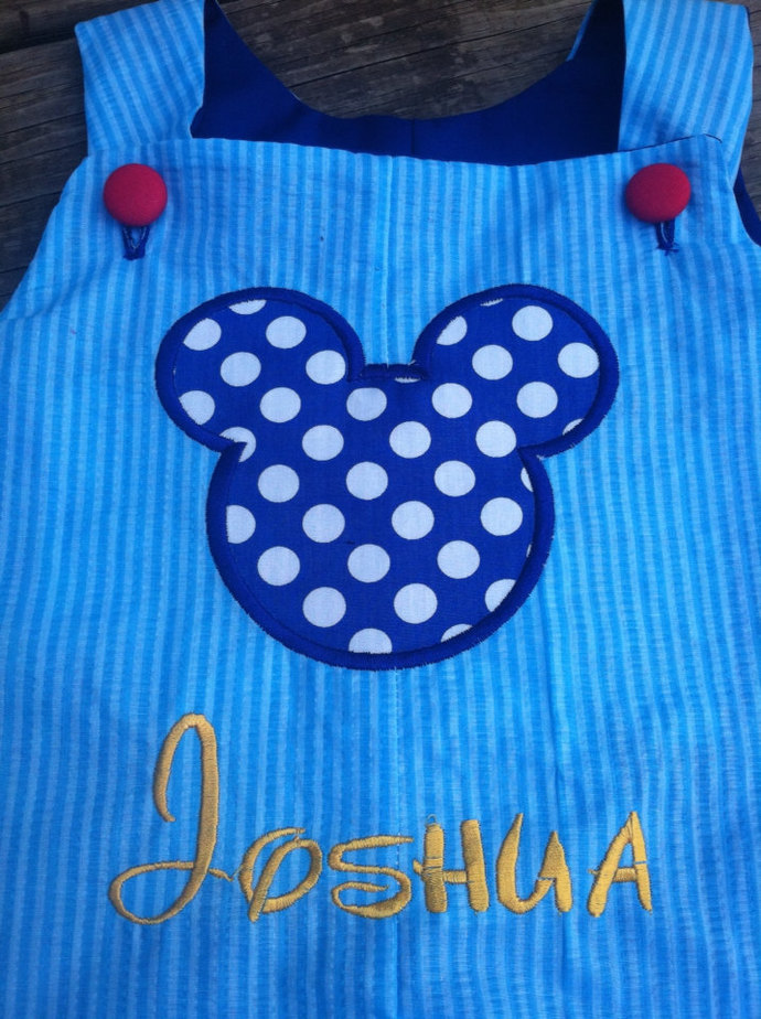 Mickey Mouse ears The blue, custom boutique boy mouse outfit Jon Jon