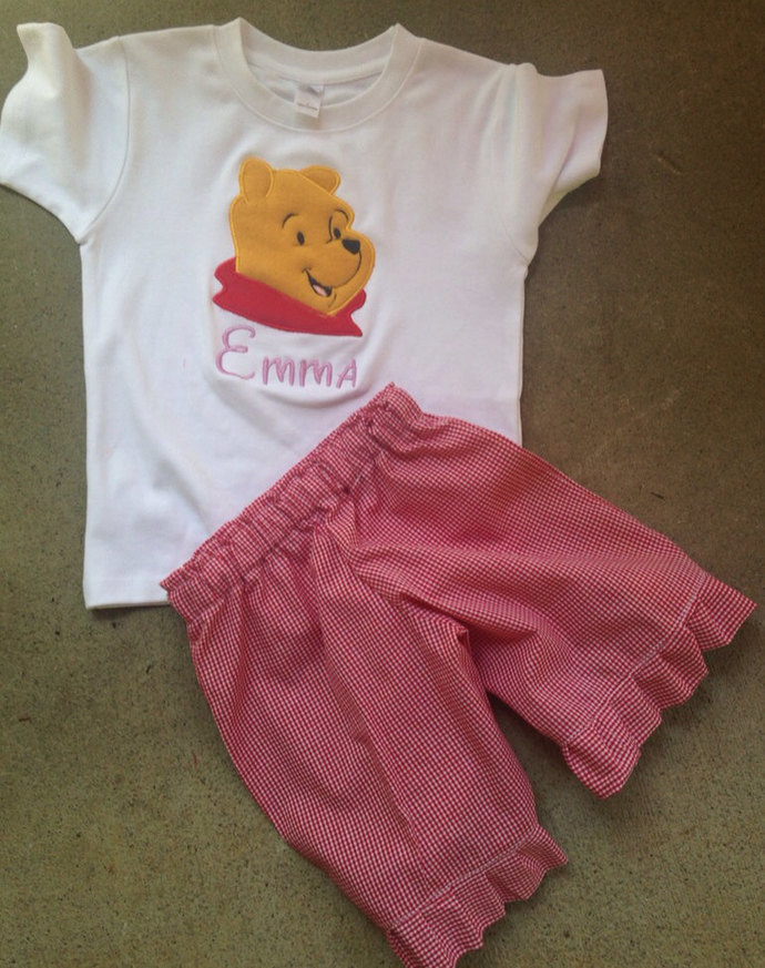 PERSONALIZED Winnie the Pooh tshirt and shorts