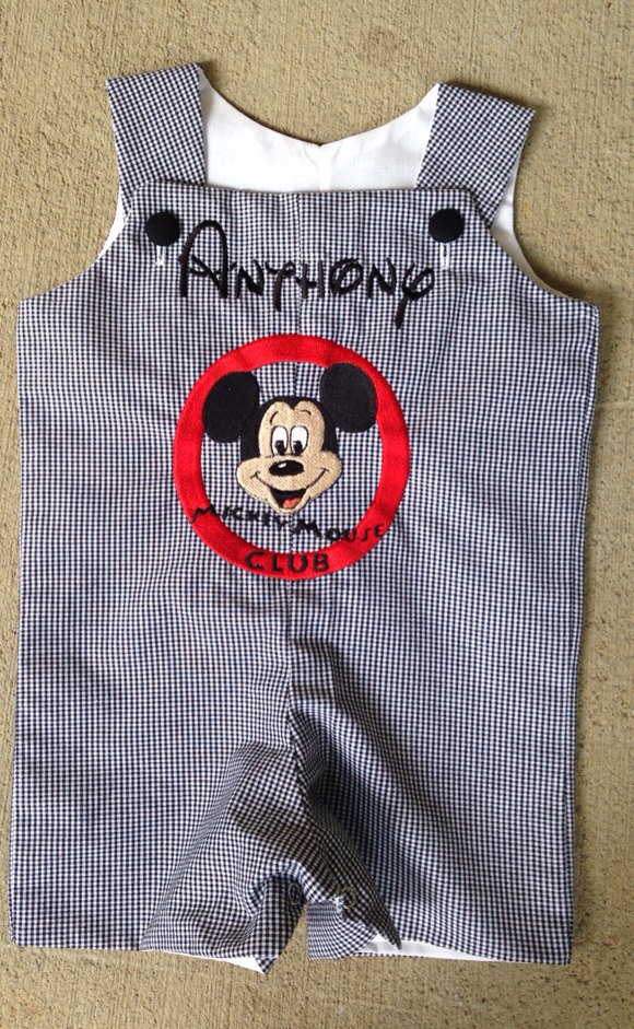 Mickey Mouse club logo romper