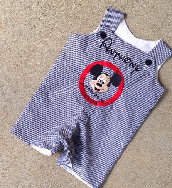 Mickey Mouse club logo romper