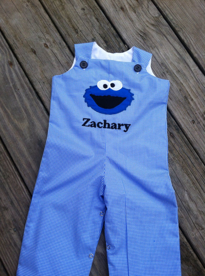 Personalized  Shortall Cookie Monster LONGALL