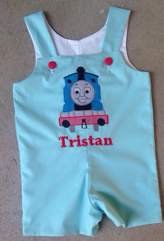 SHORTALL personalized birthday Boutique Thomas the train shortall, Jon Jon,
