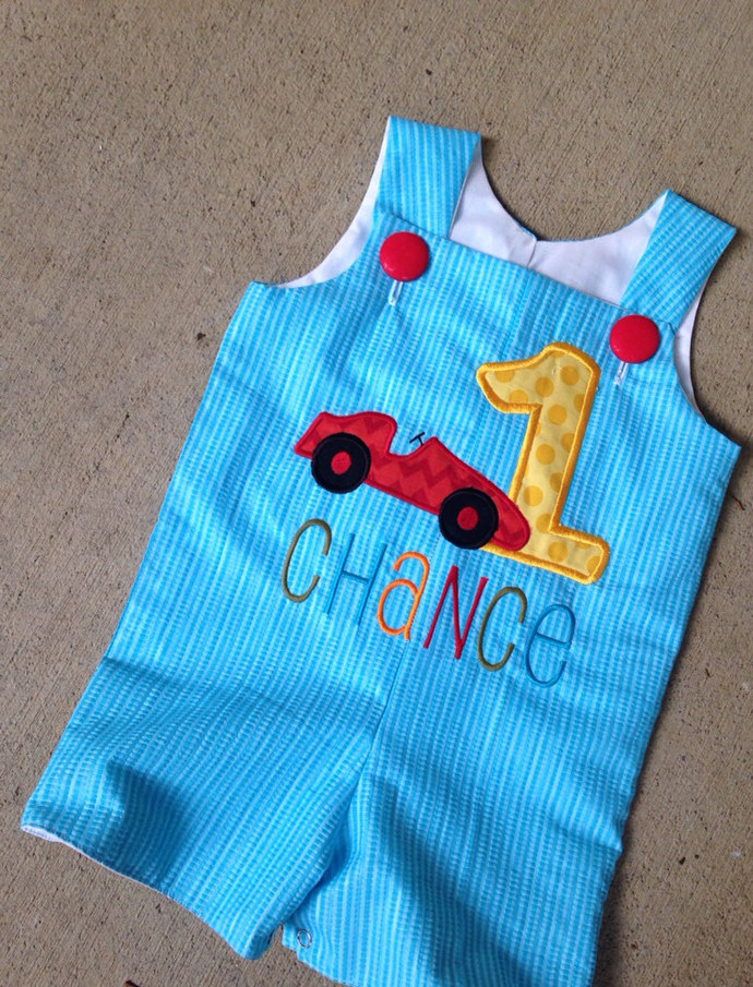 Race car birthday outfit