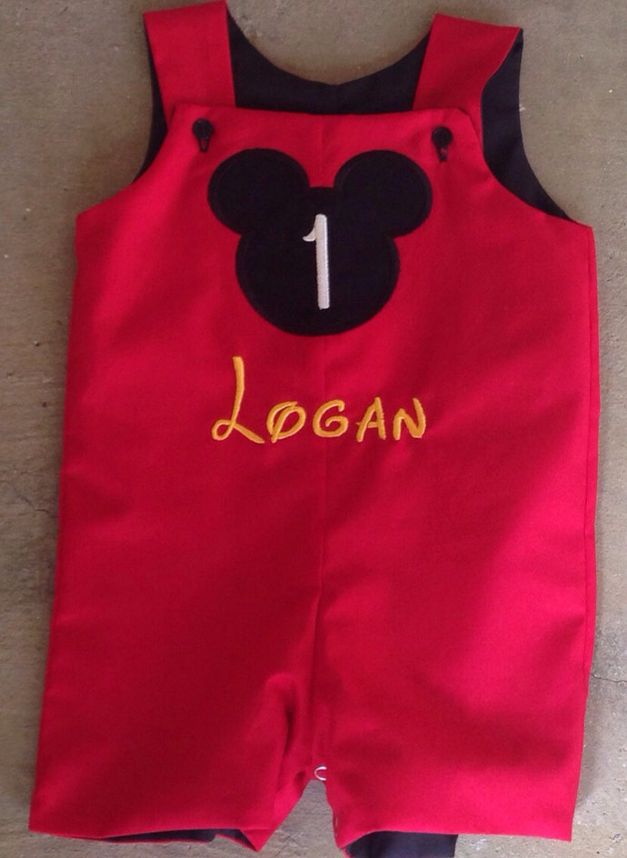Personalized Boy Mouse silhouette Birthday party mouse longall or  shortall,