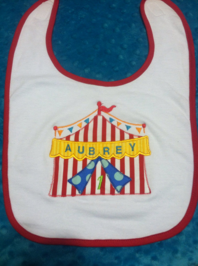 Personalized Circus tent bib