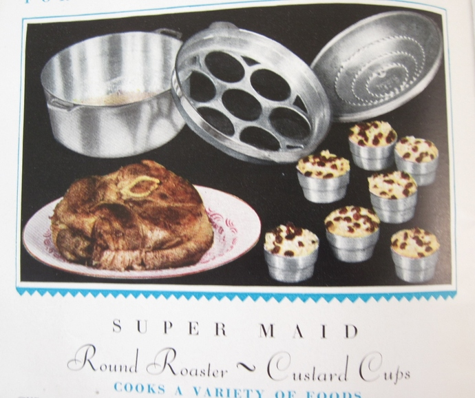 Vintage Super Maid Cookware Waffle Iron Roaster Instruction Manual Recipe Book