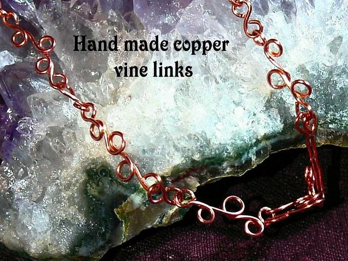 Copper wire wrapped Pink mother of pearl shell, natural stone, celestial crystal