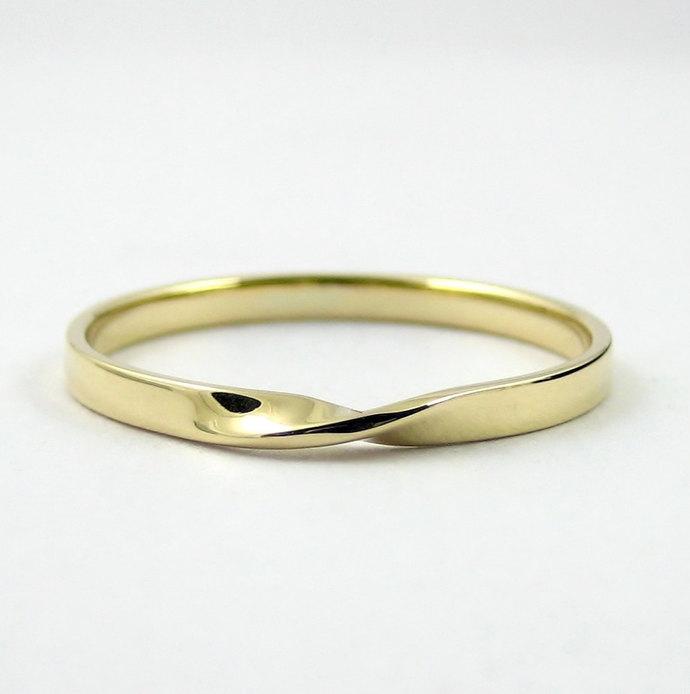 Gold Mobius Ring Infinity Ring Purana Jewellery