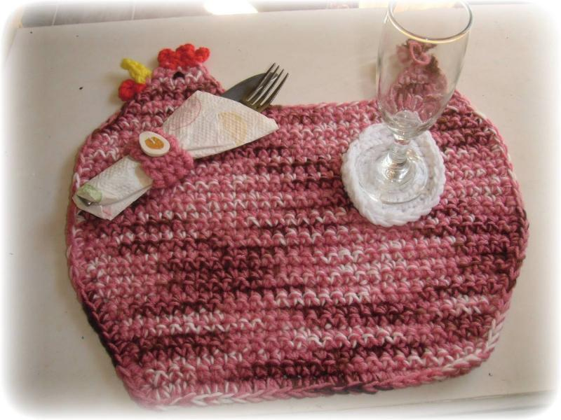 Fun And Funky Pink Chicken Placemat W By Enchantedcraft On Zibbet