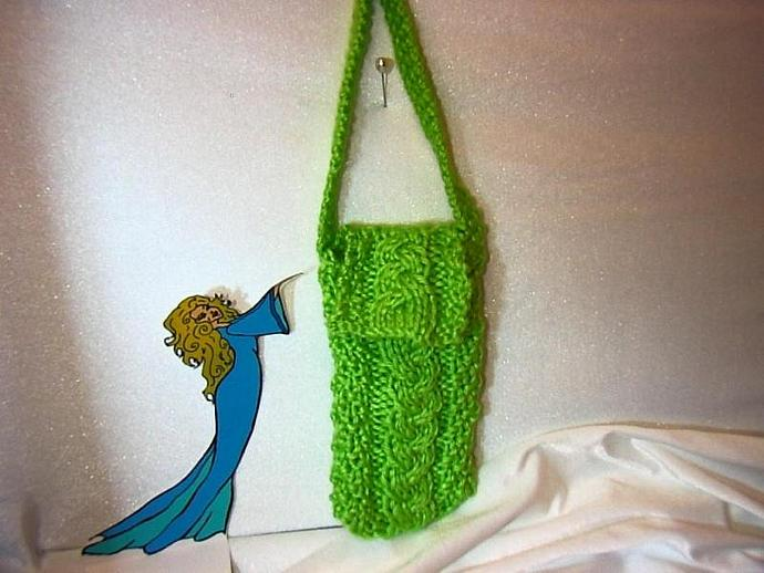 Lime green bag or cozy for: cell phone, ipod, camera