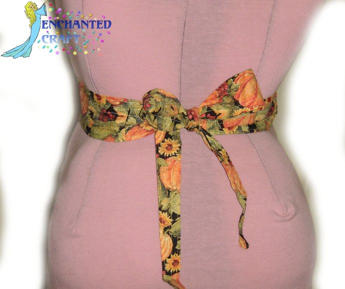 Harvest Gold Tie & Belt SET perfect for Square Dancers for autumn, fall,
