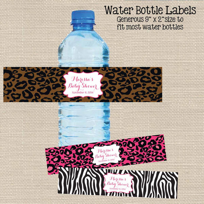 Animal Print Water Bottle Labels Printable Designsbydvb