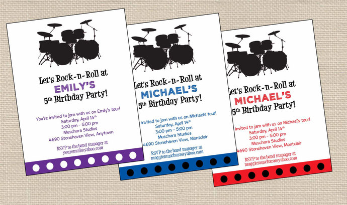 Rock N Roll Birthday Invitations Printable