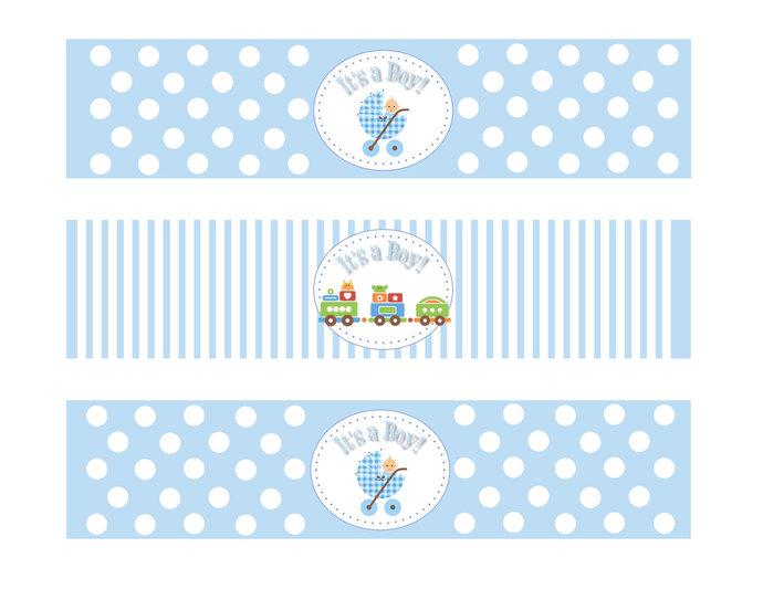 Baby Shower Boy Water Bottle Labels Printable Designsbydvb