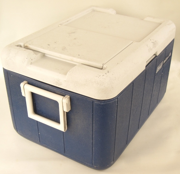 Coleman KwikServ 40 Cooler Kwik Serv Ice Chest with Lid Flap (as-is, see  description)