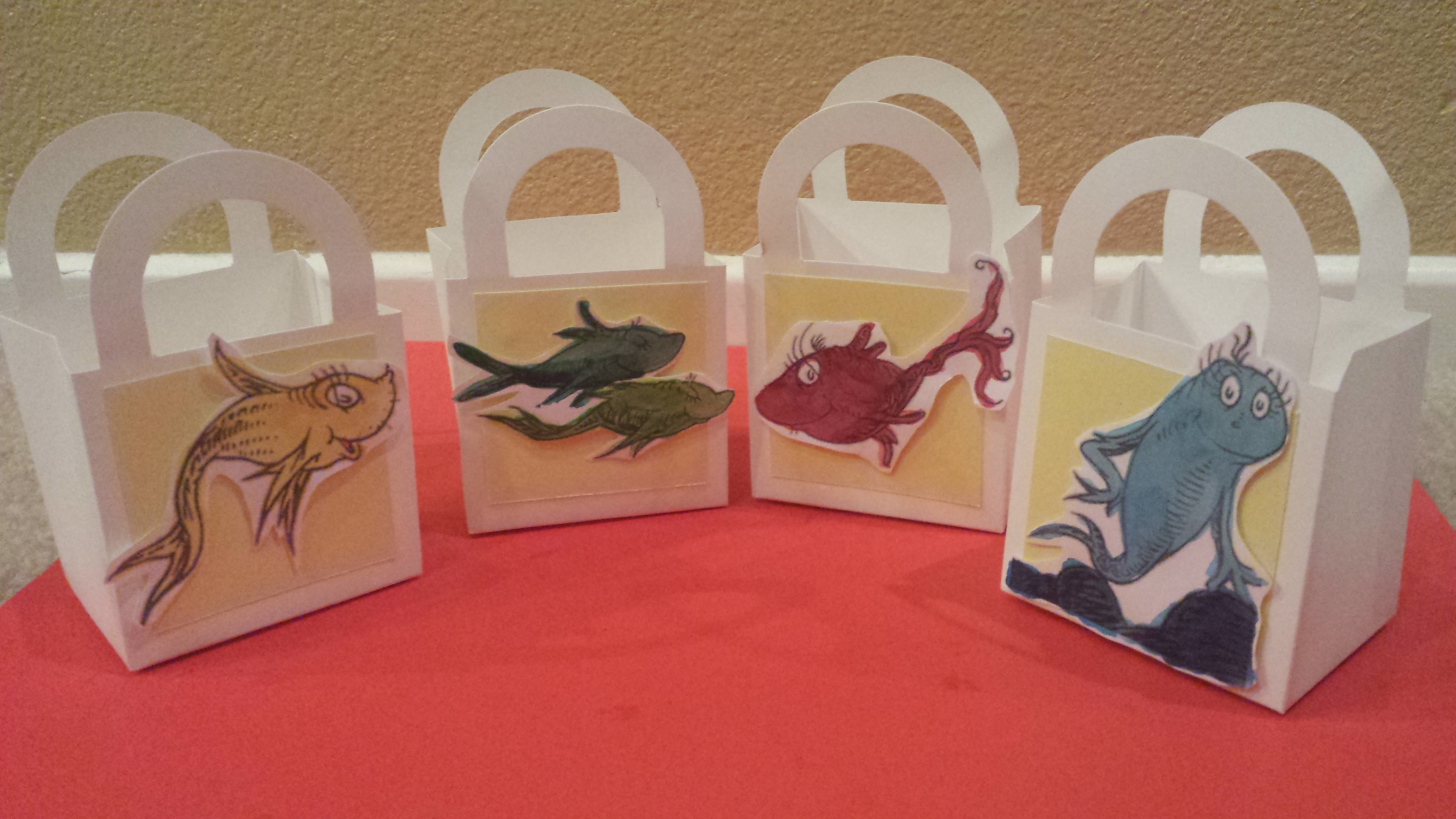 Dr Seuss Candy Favor Boxes- One Fish, Two by ChristNovMama on Zibbet