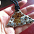 Ceramic Art Pendant - Triangle Spring Bloom