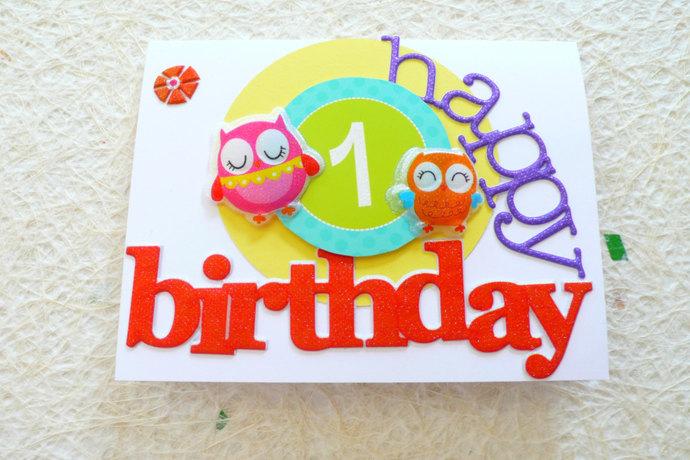 Kids birthday card first birthday nirvanacardsncrafts kids birthday card first birthday card girl birthday 1st birthday card baby bookmarktalkfo Images