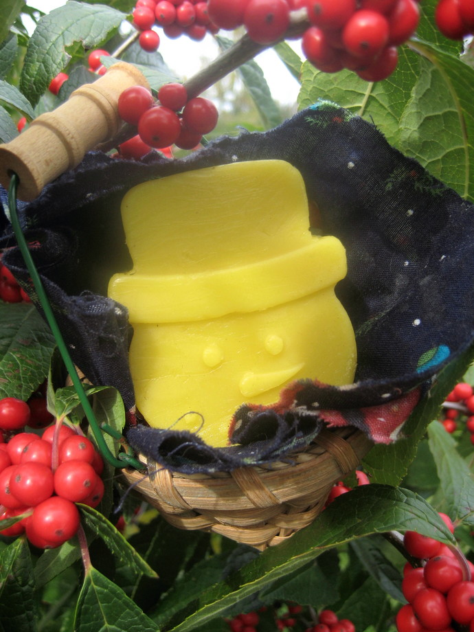 Snowman Body Butter Solid Lotion, Shea Butter, Cocoa Butter, Christmas Gift,