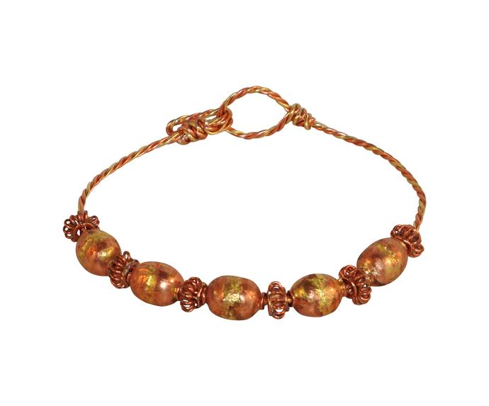 Copper and Brass Bangle Bracelet