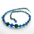 Stunning Vintage Cut Crystal Sapphire Blue Emerald Green AB Necklace Single