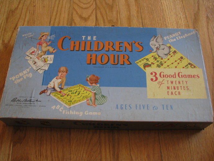 Vintage 1958 Parker Brothers Game- The Children's Hour- great vintage graphics