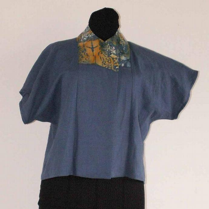 Kimono Style Linen Jacket - Size Medium