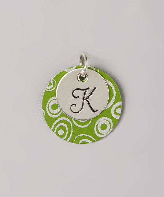 Hand Stamped Monogram Initial FUNky Pendant - Initial Pendant - Initial Necklace
