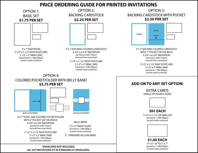 Standard pricing guide for wedding runkpockdesigns standard pricing guide for wedding invitation sets from runkpock designs stopboris Image collections