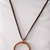 Wire wrapped solid copper circle necklace, copper necklace, copper circle