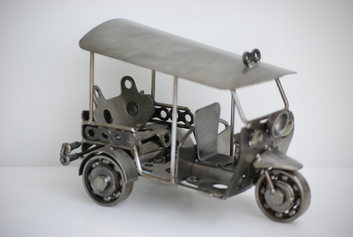 Tuk Tuk (3 wheel car) Metal Sculpture Cool Gift For Christmas Cool Gifts For