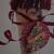 Santa Claus Vintage Tussie Mussie Christmas Decoration Cone Handmade OOAK