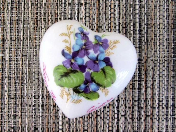 1970s Lego Fine Porcelain Heart Trinket Box