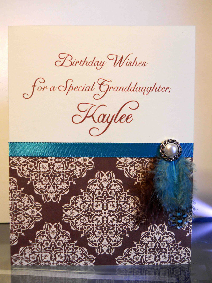 Personalized Birthday Card - Fancy Feathers