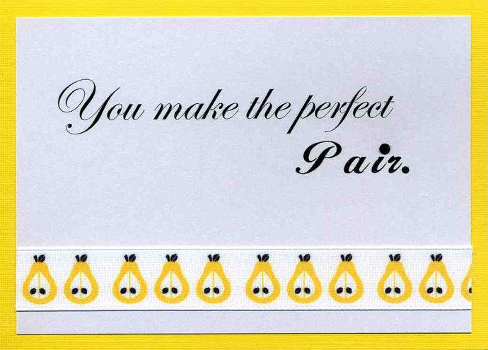 Wedding Congratulations Card - Perfect Pair