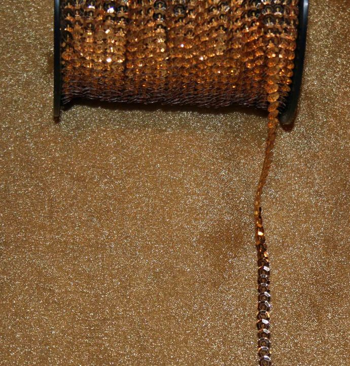 Gold Shimmery Sequin Trim #T-0061