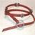 Red Leather Wrap Bracelet, Item #496