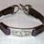 Violet Vintage Leather Bracelet, Item #1404
