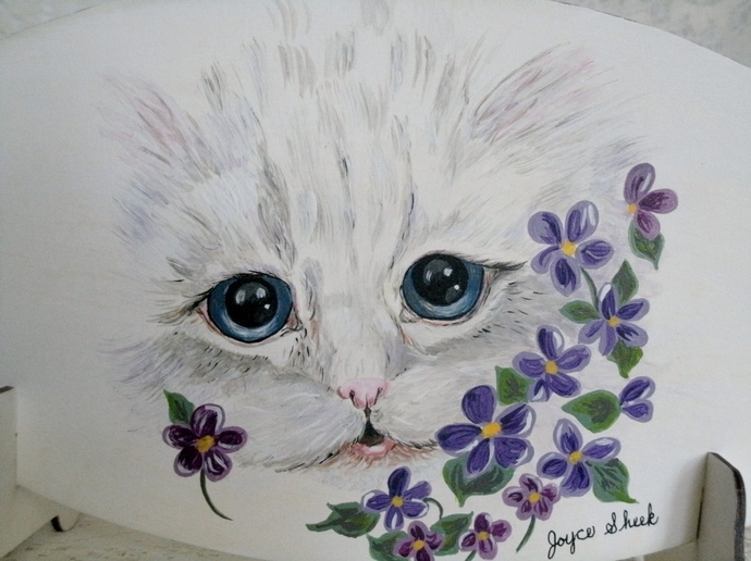 Kitten Painting, fine art, original, realism, acrylic, animal, cat, feline,