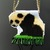 Bead loomed Panda baby pendant with green dagger fringe