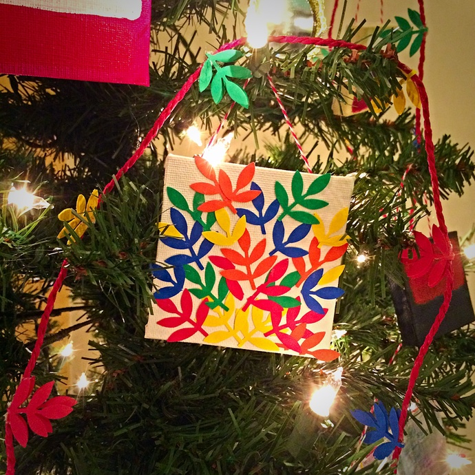 Cut out canvas ornaments