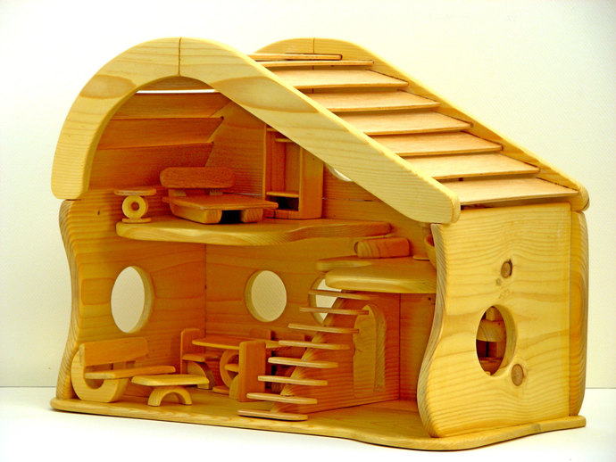 Handmade Wooden Dollhouse By Woodnack On Zibbet