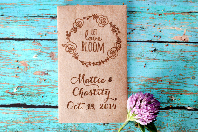 150 Seed Packet Wedding Favor by SweetSpotStampShop on Zibbet