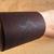 Wood burned dragon leather cuff bracelet