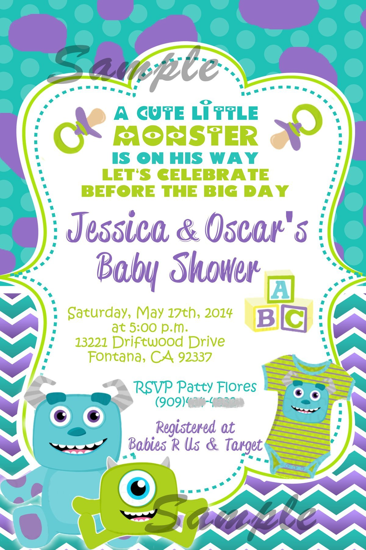 Awesome Monster Inc Baby Shower Invites Pictures Inspiration ...