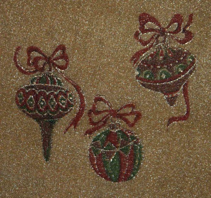 Sparkly Glitter Tulle Ornaments #E-0043